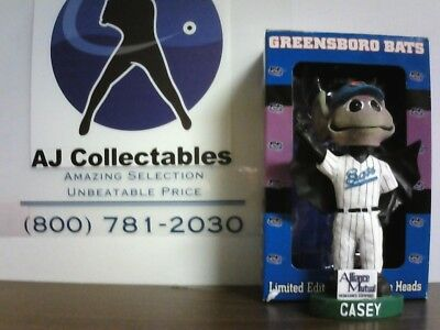 Casey The Bat Greensboro Bats Mascot New York Yankees Bobblehead Nib