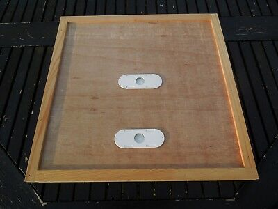 1 National bee hive crown board with 2 Porter bee Escapes.