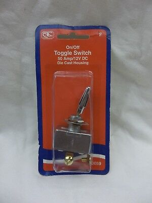 Toggle Switch 50 Amp / 12V Dc Die Cast Housing On/off 50059