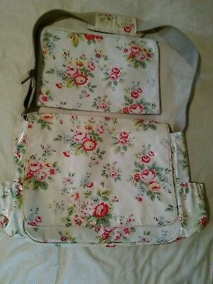 Cath Kidston Floral  Nappy Changing Bag With Mat
