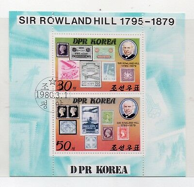 Corea Sello Sobre Sello Sir Rowland Hill Hojita año 1980 (DX-401)