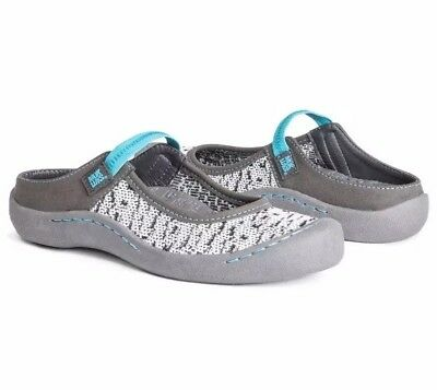NWT MUK LUKS Women's Justine Strap White Clogs Shoes Sneakers Slip On MULES 8 M