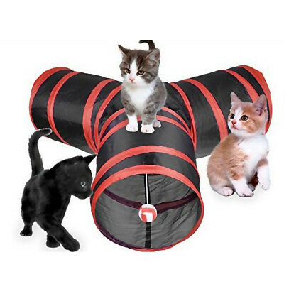 Lovely Kitty Tunnel Bored Cat Pet Toys with Ball Cats Tube for Cat Kitten