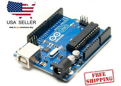 Arduino Uno R3 + USB Cable  - VIDEO - DISCOUNT AVAILABLE