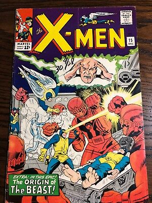 X-Men # 15 - Nov 1965 - Second Appearance Of The Sentinels - Marvel