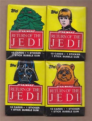 Star Wars Return of the Jedi Topps Unopened Sealed Wax Packs 1983 - 4 Different