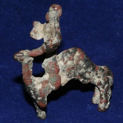 South Arabian Bronze Camel & rider from necklace, 5th century AD. VERY NICE RARE