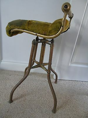 C H Hare & son brass piano chello chair revolving stool antique adjustable music