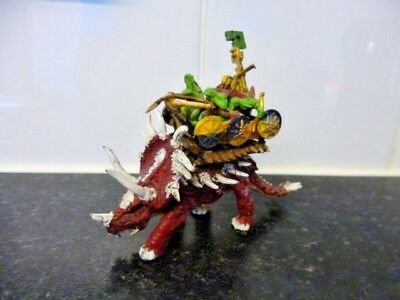 Warhammer Large Model of Skinks Riding a Stegadon - Metal Painted