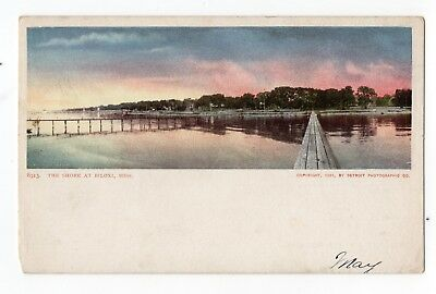Biloxi, Mississippi, The Shore Old Postcard