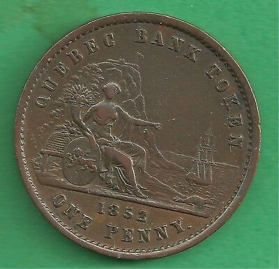 BR 528 PC4 1852 Province of Canada 1 penny