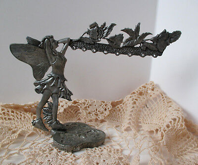 Fairy Earring Jewelry Holder Display Solid Pewter Faerie Vanity Stand