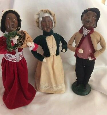 Byers Choice African American Victorian Carolers Grandparents & Woman  2001
