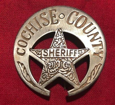 Reproduction Cochise County Arizona Sheriff Badge  Novelty