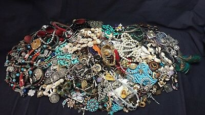 Estate Lot of Mixed Costume Jewelry Earrings Brooches Necklaces Some Vintage