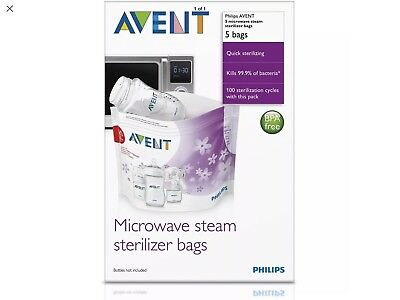 Philips AVENT Microwave Steam Stereliser Bags (x5)