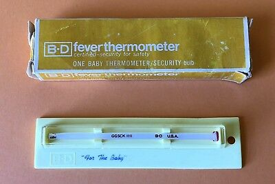B-D Vintage Glass BABY Fever Thermometer