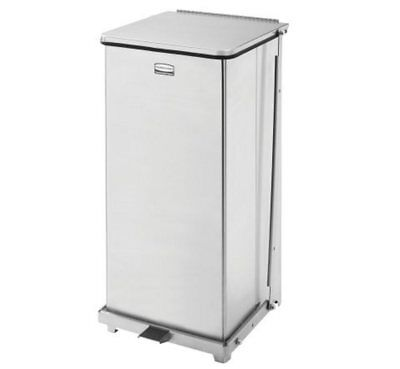Rubbermaid St24 24 Gal Step 24 Gallon Trash Waste Can Receptacle Stainless Steel