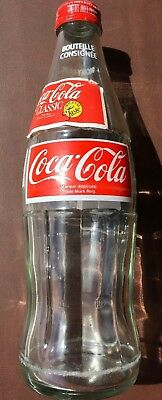 Vintage Empty 1 Liter Glass Coca Cola Bottle With Big Mouth Cap Toronto Canada