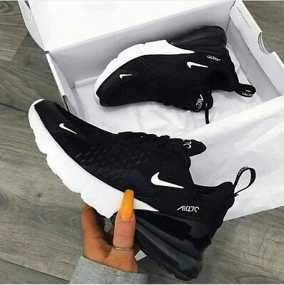 New Mens Nike Air Max 270 Shoes Black&White Sport Sneakers Size 10 EUR 44