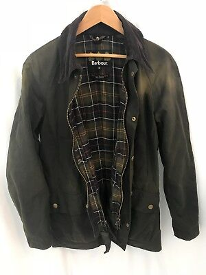 Barbour Ashby Waxed Cotton Jacket Olive Green Men's Medium