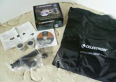 Celestron FirstScope telescope accessory kit, two eyepieces and finder scope