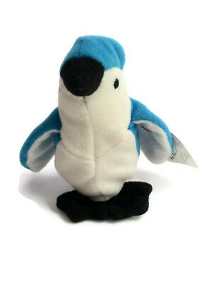 TY Beanie Babies McDonalds Rocket the Blue Jay Vintage Toys Bird Free Shipping
