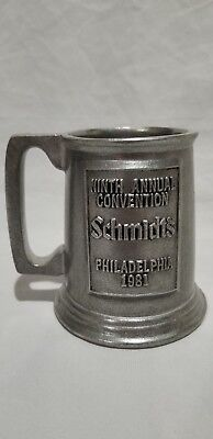 Vintage Ninth Annual Convention Schmidt's Philadelphia 1981, Pewter Mug