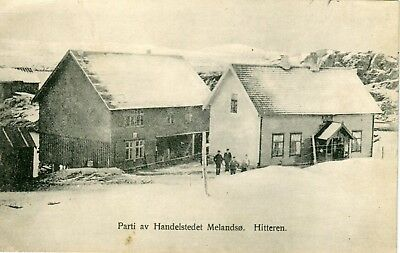 Norway Norge Hitteren Hitra - Houses 1911 postcard