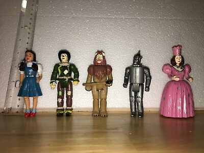 """Loew's Wizard of Oz figures set of five, 4"""" tall poseable"""