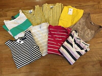 Lot of 9 Women's Tops Size XS-S, spring/summer/fall