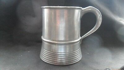 Vintage English-made pewter tankard by A E & Thomas Williams