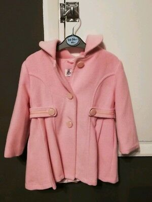18-24 Months Girl's Pink Winter Couche Tot Coat and matching hat
