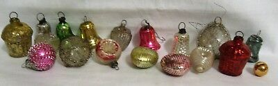 18 Antique Glass Feather Tree Ornaments