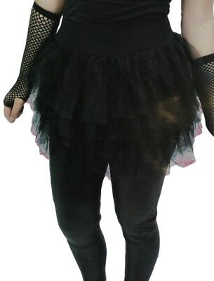 Black Tutu Skirt Women Eighties Madonna Punk Goth Girl Costume Halloween Dressup