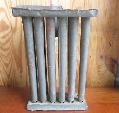 ANTIQUE Primitive 1800's Tin Tapered Candle Mold Blacksmith Made Missing One