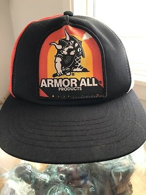 Vtg Rare Armor All Logo Tri Color Mesh Snapback Trucker Hat Unused
