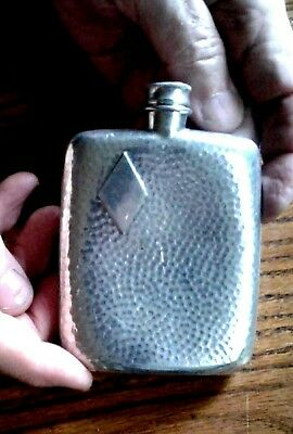 James Dickson & Sons Vintage Hammered Flask, Sheffield England