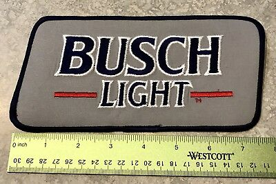 """Busch Light Back Patch. Cyclones Hawkeyes Large 8""""x4""""~NO RESERVE. New. Iowa"""