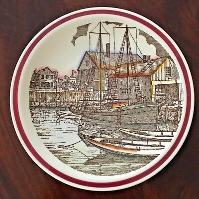 """Vernon Kilns """"Bits of Old New England"""" - The Cove - Collector Plate"""