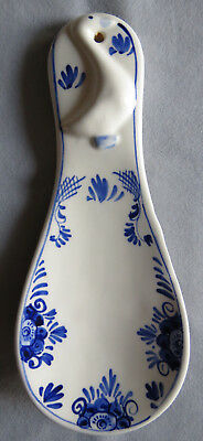 """""""Hand Painted Delfts Blue"""" Beautiful Vintage Goose Spoon Rest -  NR, See Pics!"""