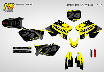 MX Graphics Stickers Kit Decals Suzuki RM 125 RM 250 2001-2012