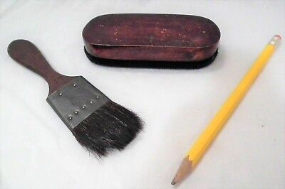 Rare Vintage Antique Cylinder Phonograph Gramophone Record Chip Brush & Duster