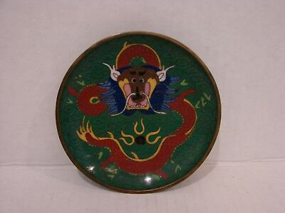 Chinese Cloisonné Dragon Small Dish