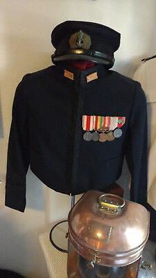 WWII Imperial Japanese Naval Rear Admiral's Formal Dress Winter Uniform And Cap.