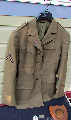 Ww 2 First Division Uniform A.a. Gunner Injured At Pear Harbor With Plaque