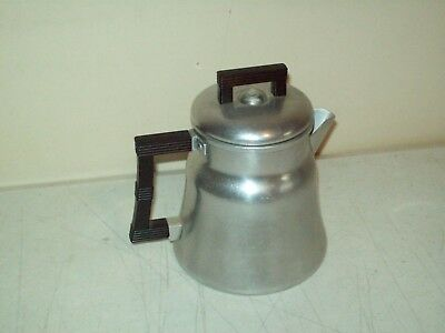 vintage aluminum Stove Top Camping percolator coffee pot USA Wear-Ever 6 cup