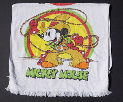 Vintage Mickey Mouse Donald Duck beach towel