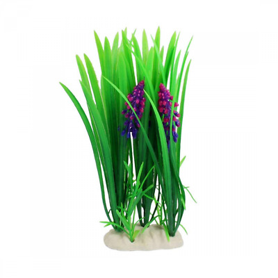 Sourcingmap Plastic Fish Tank Flowers Aquatic Plant Decoration, Blue/Magenta