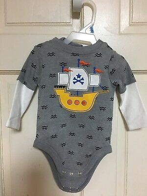 Infant Boys Outfit Kids Baby Clothing Long Pants Set Boat